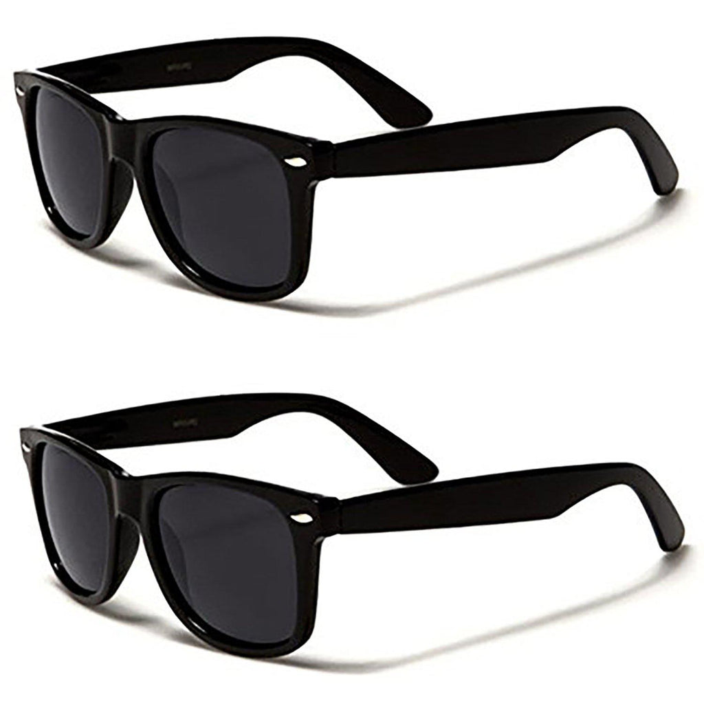 [2-Pack] Mechaly Wayfarer Style Sunglasses-Black-Daily Steals