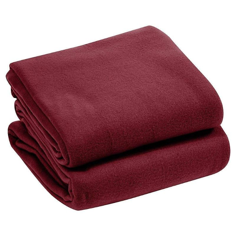Luxury Home Micro Plush Fleece Blanket-Burgundy-Twin-Daily Steals