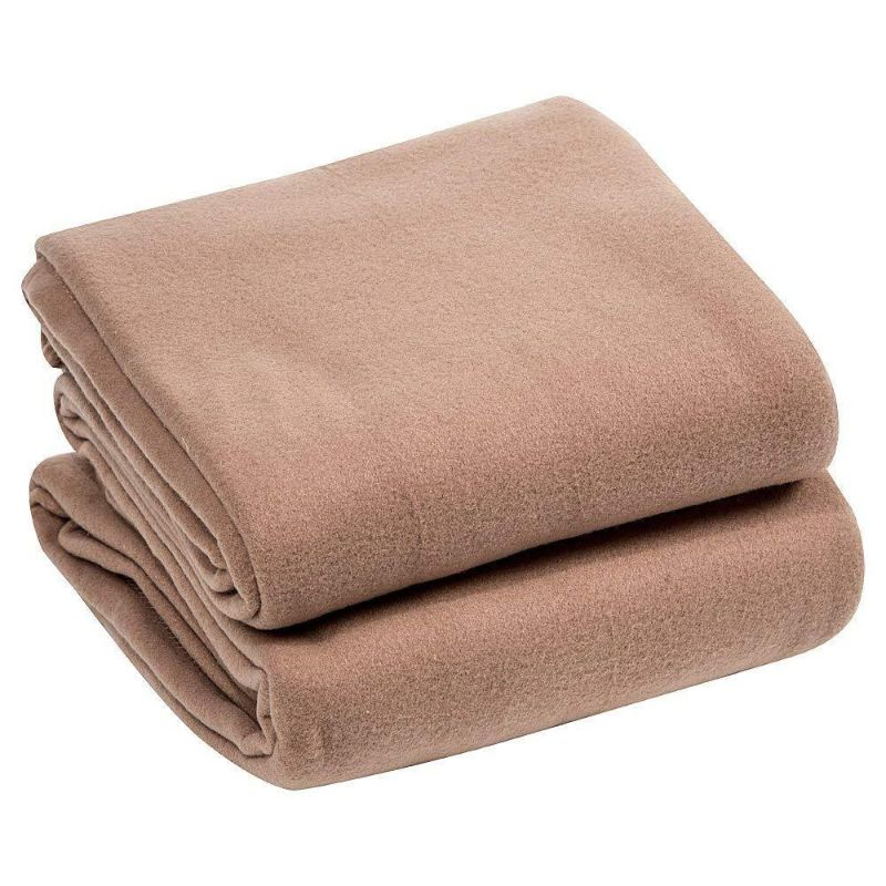 Luxury Home Micro Plush Fleece Blanket-Camel-Twin-Daily Steals