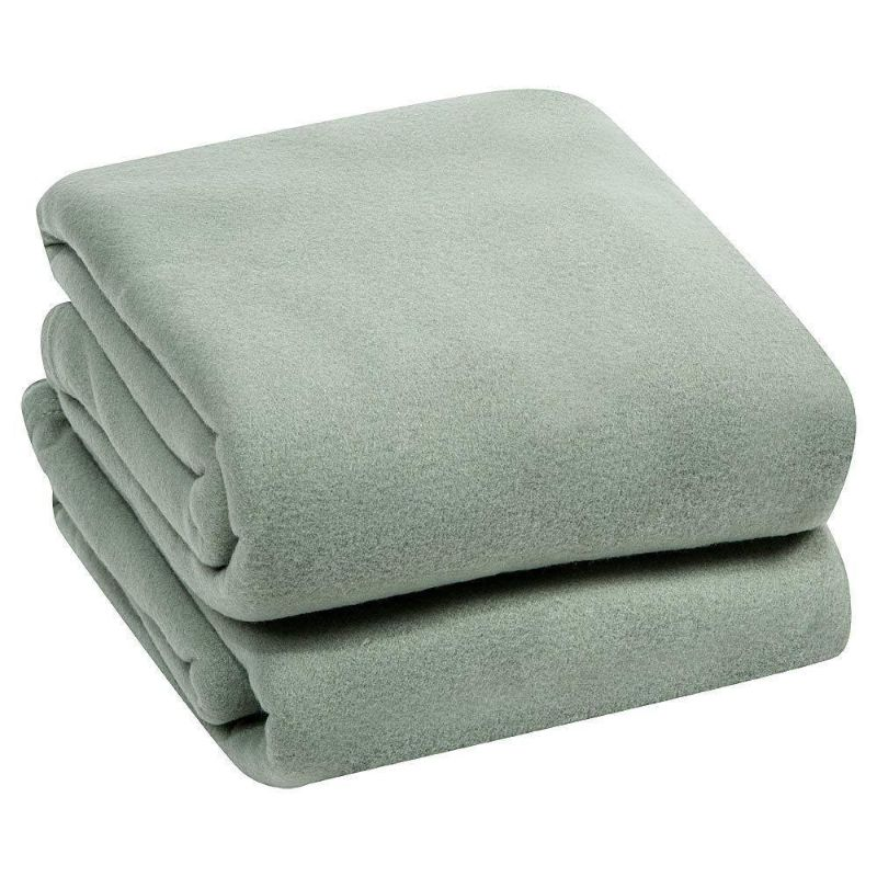 Luxury Home Micro Plush Fleece Blanket-Sage-Twin-Daily Steals