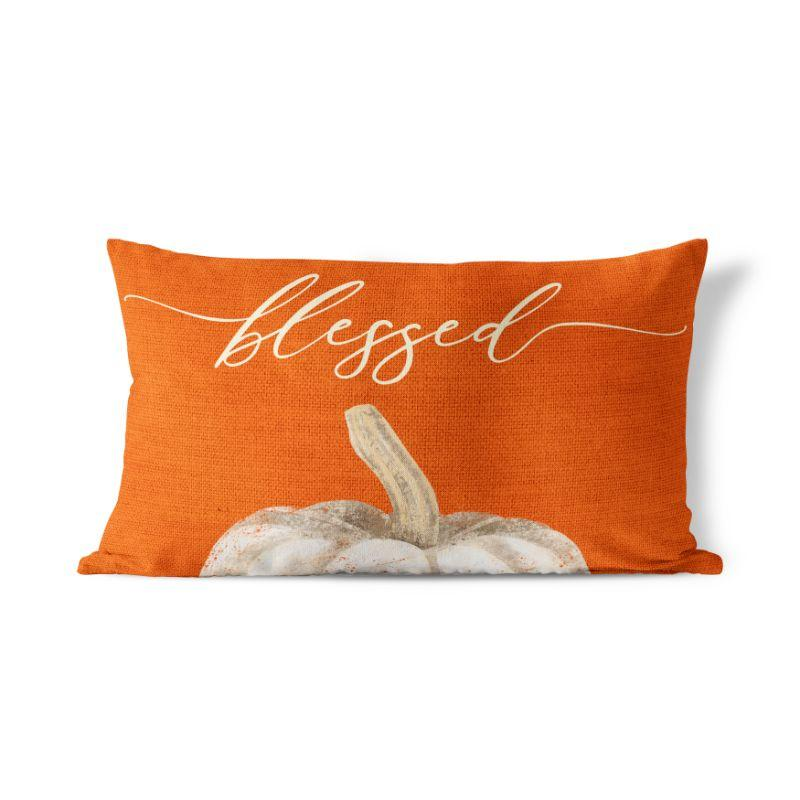 "Blessed - Lumbar Pillow Cover - 12""x20""-"