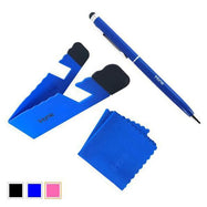 iHome Tablet and Smartphone 3-in-1 Microfiber Cloth, Stylus Pen & Stand Bundle-Blue-Daily Steals