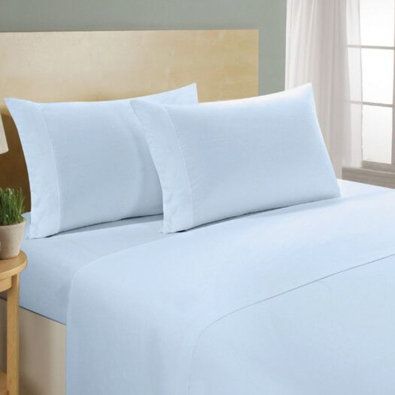 [4-Piece] Luxurious 1,000 Thread Count Egyptian Cotton Sheet Sets-Blue-Full-Daily Steals