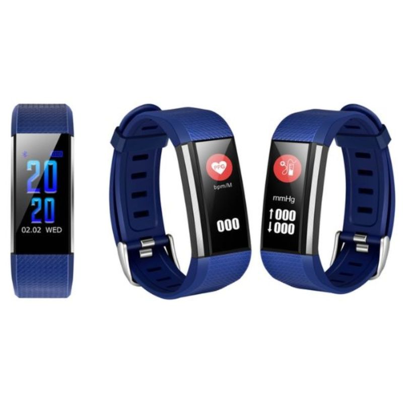Fitness Activity Watch with Heart Rate, Blood Pressure, and Sleep Monitor-Blue-Daily Steals