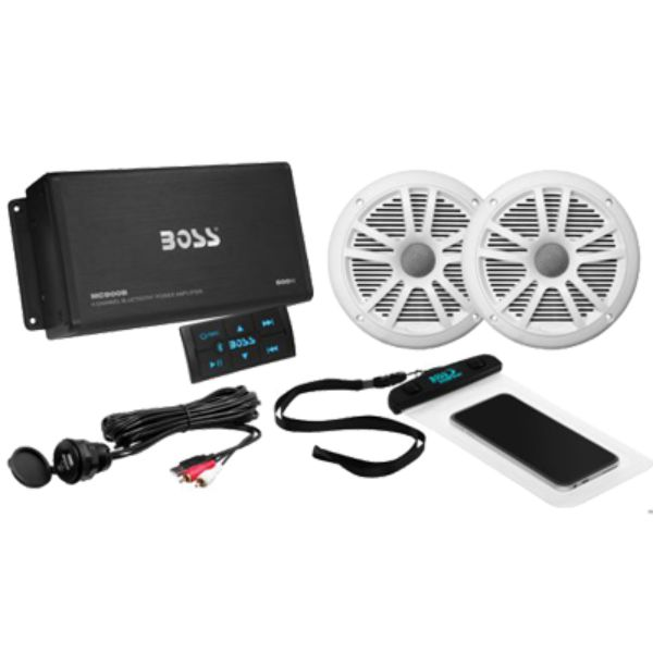 Bluetooth Amp Package w/1 Pair Speakers By Boss Audio-Daily Steals
