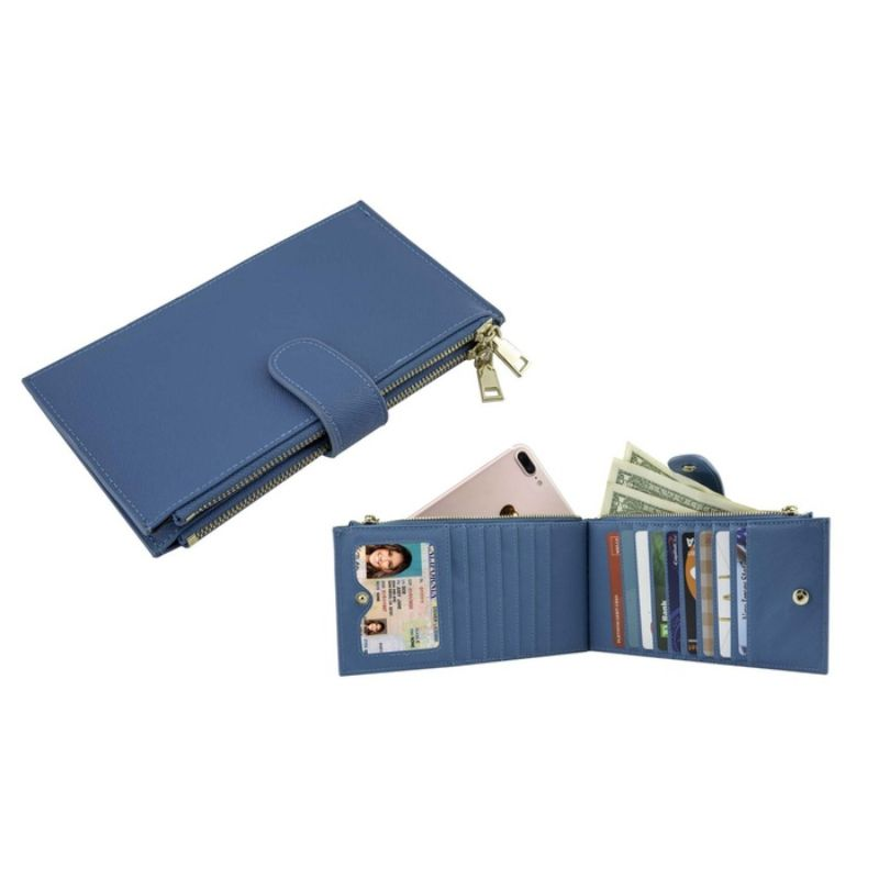 RFID Blocking Bifold Multi Card Case Wallet with Zipper Pocket-Daily Steals