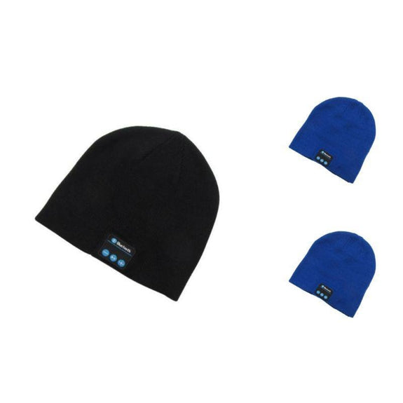 Bluetooth Winter Beanie - 3 Pack-2 Blue, 1 Black-Daily Steals