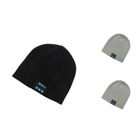 Bluetooth Winter Beanie - 3 Pack-2 Light Grey, 1 Black-Daily Steals
