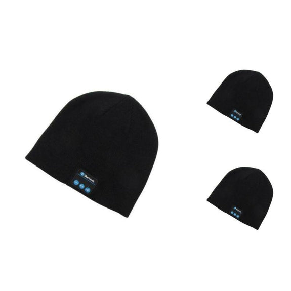 Bluetooth Winter Beanie - 3 Pack-3 Black-Daily Steals