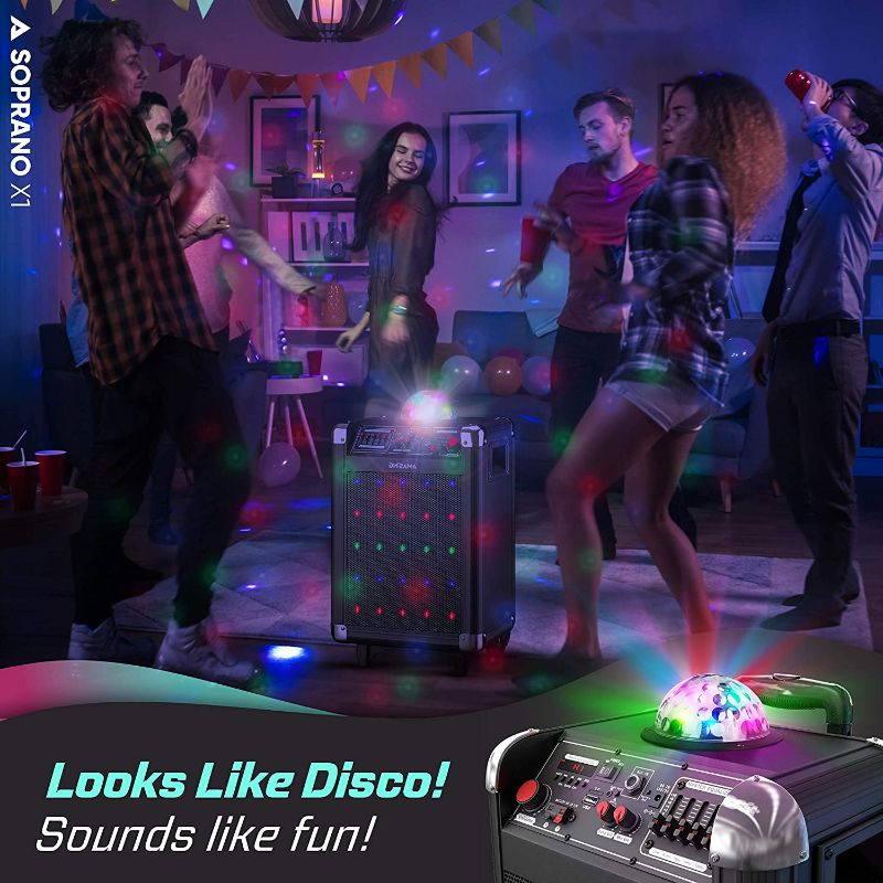 Bluetooth Portable Karaoke Machine with PA Speaker System
