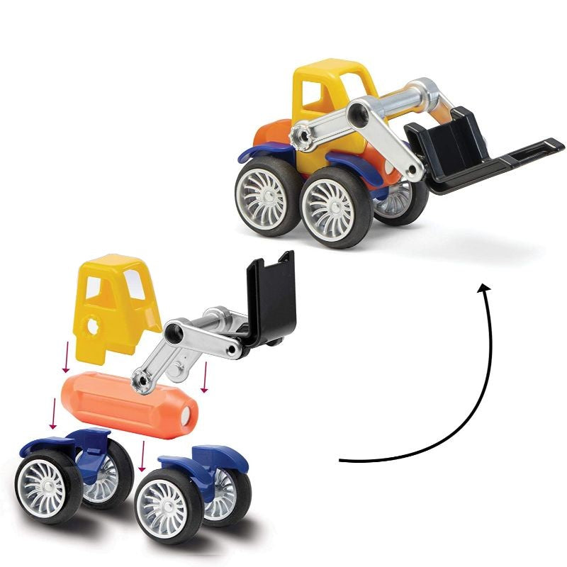 Play Brainy Montessori Magnetic Toy Car Set - 42 or 90 Piece Sets