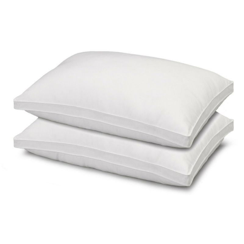 Ella Jayne Gusset Allergy Resistant Down-Like Fiber Pillows - 2 Pack-Standard-Daily Steals