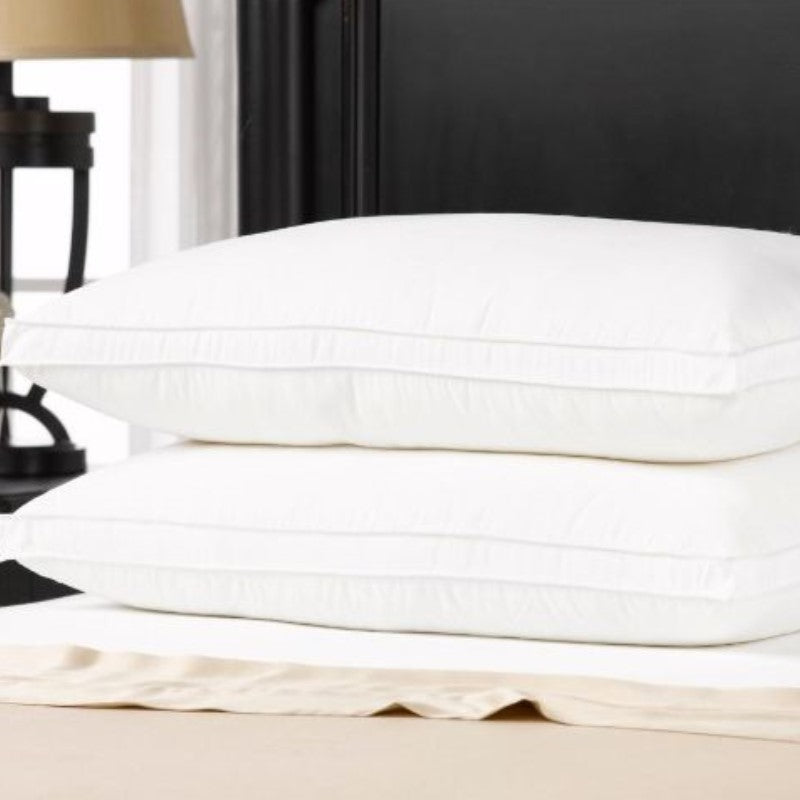 Ella Jayne Gusset Allergy Resistant Down-Like Fiber Pillows - 2 Pack-Daily Steals