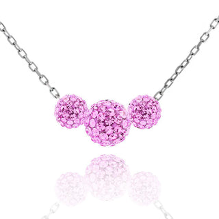 Triple Crystal Ball Drop Necklace
