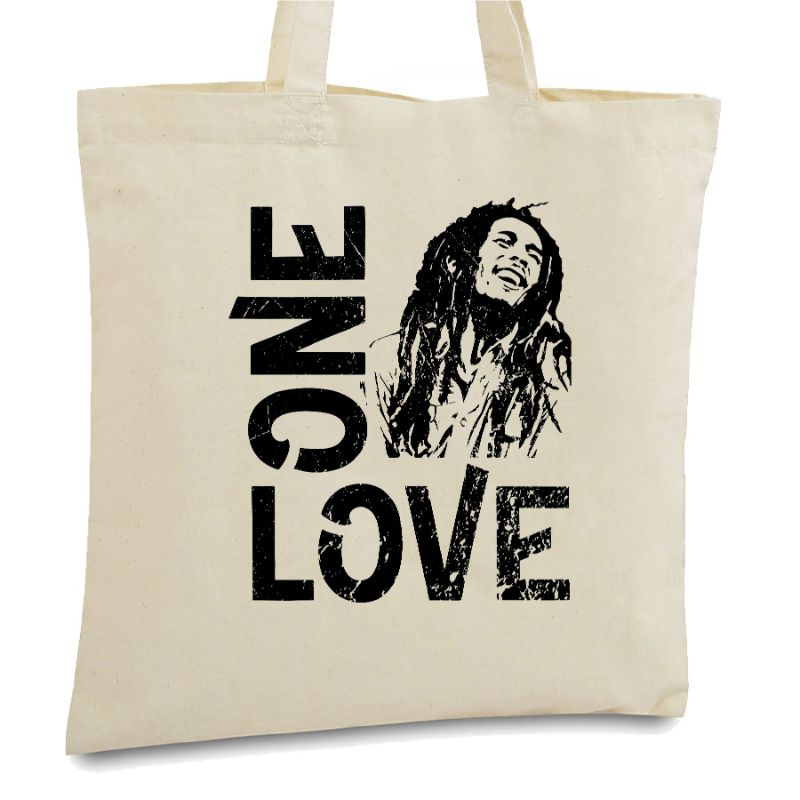 Statement Tote Bags-Bob Marley One Love-Daily Steals
