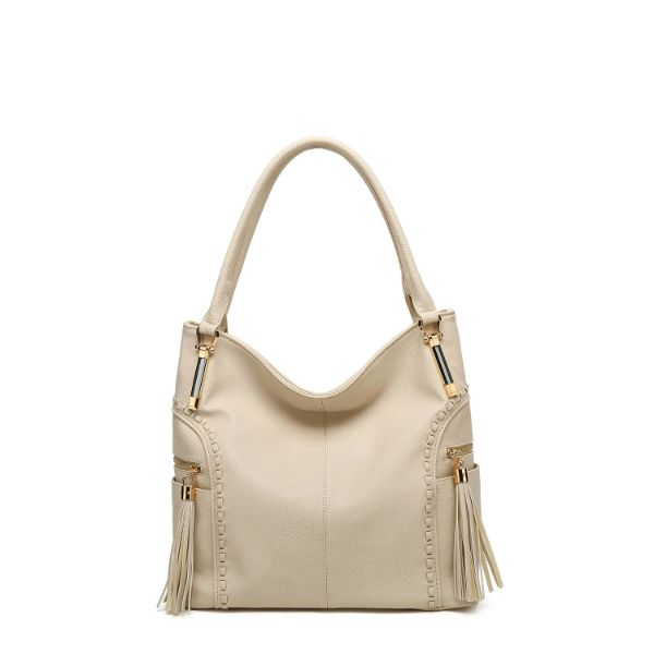 MKF Collection Betsy Shoulder Bag by Mia K. Farrow-Bone-Classic-Daily Steals
