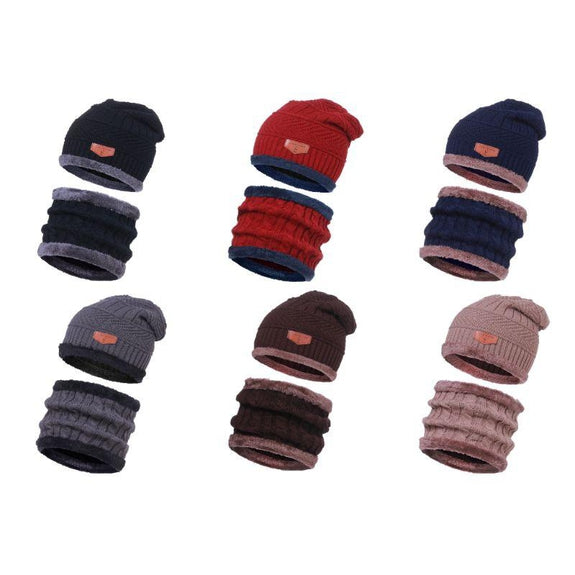 CC Chic Unisex Fleece Beanie + Scarf Set-Daily Steals