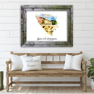 "Bosnia and Herzegovina Watercolor Map Print - Unframed Art Print-16""x12""-Horizontal/Landscape-Daily Steals"