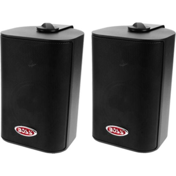 "Daily Steals-Box Speakers, 4"" 3-Way, 200 Watt, Black By Boss Audio-Speakers-"