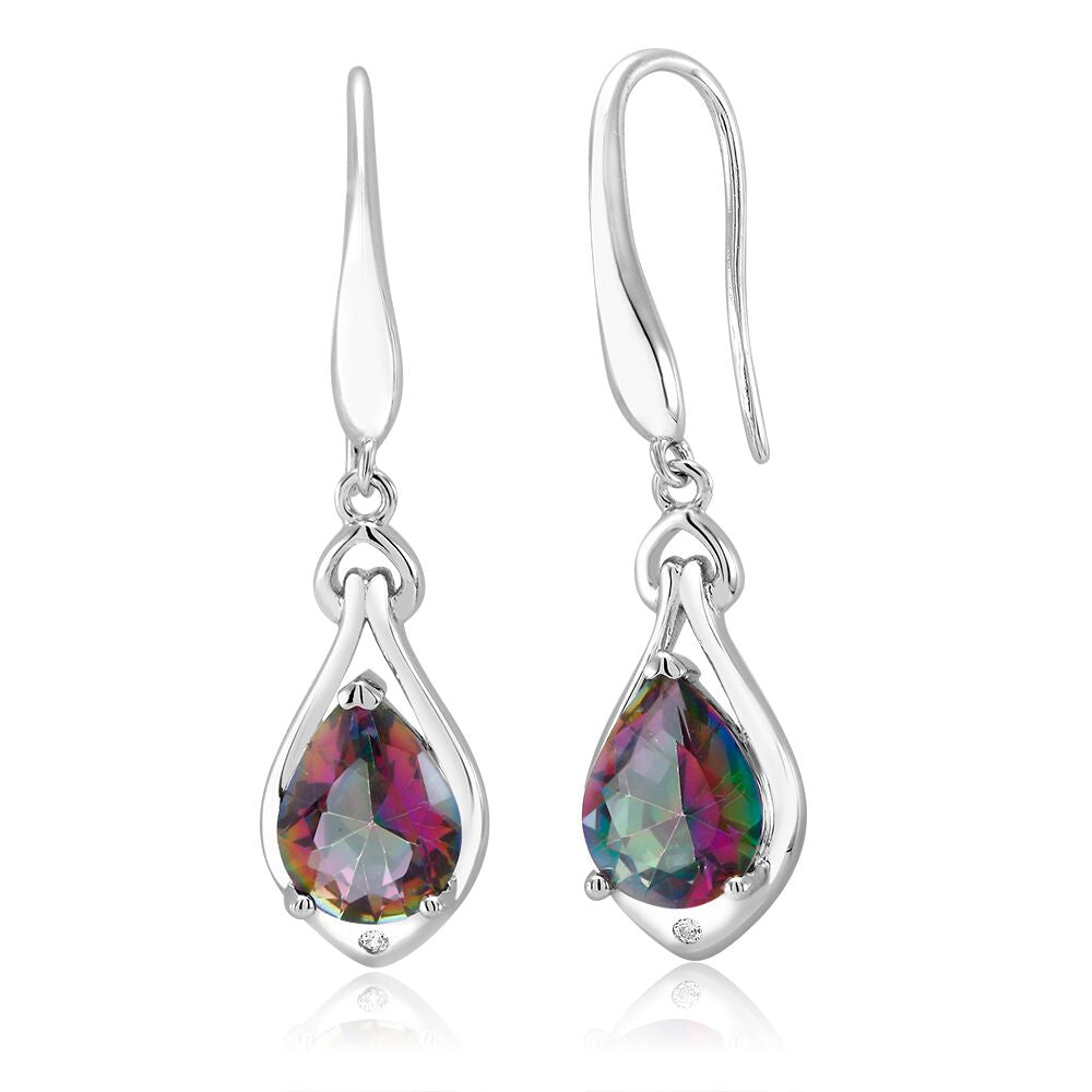 18kt Gold Plated Drop Fancy Earrings-Daily Steals