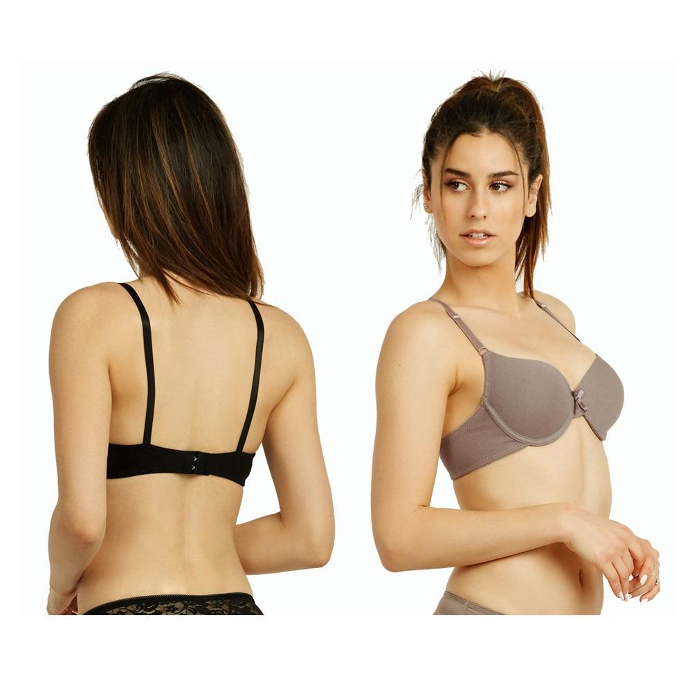 Unibasic Apparel Women's Full Cup Plain Cotton Bra - 6 Pack-Daily Steals
