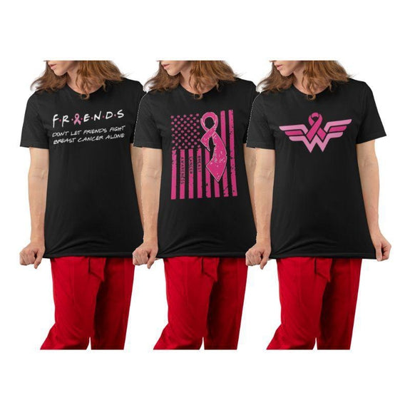 Breast Cancer Awareness Month T-Shirt-Breast Cancer Awareness Flag-S-