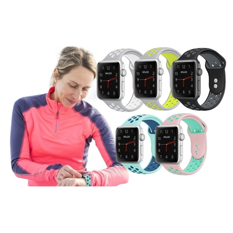 Waloo Breathable Sports Band For Apple Watch Series 1-5-Daily Steals