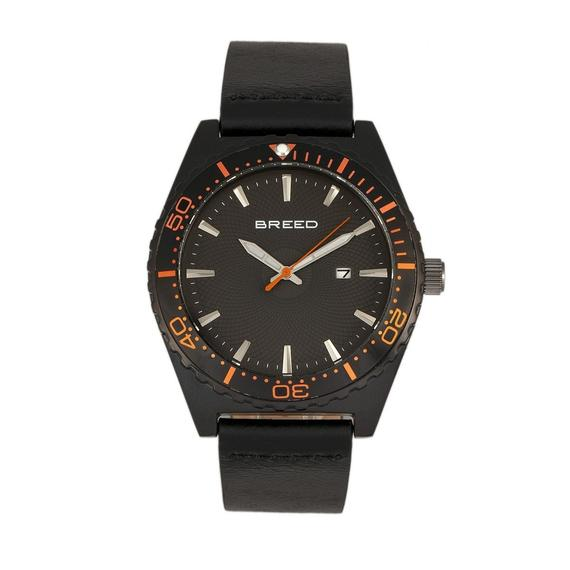 Daily Steals-Breed Ranger Leather-Band Watch w/Date-Accessories-Black-