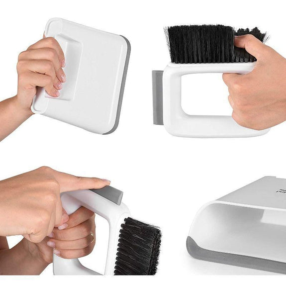 briteNway 2-in-1 Mini Dustpan and Counter Brush Cleaning Set-