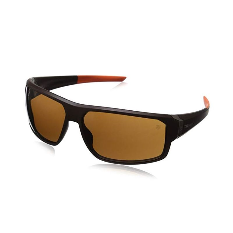 TAG Heuer Racer2 9223 202 Rectangular Sunglasses Brown Orange 70 mm-Daily Steals