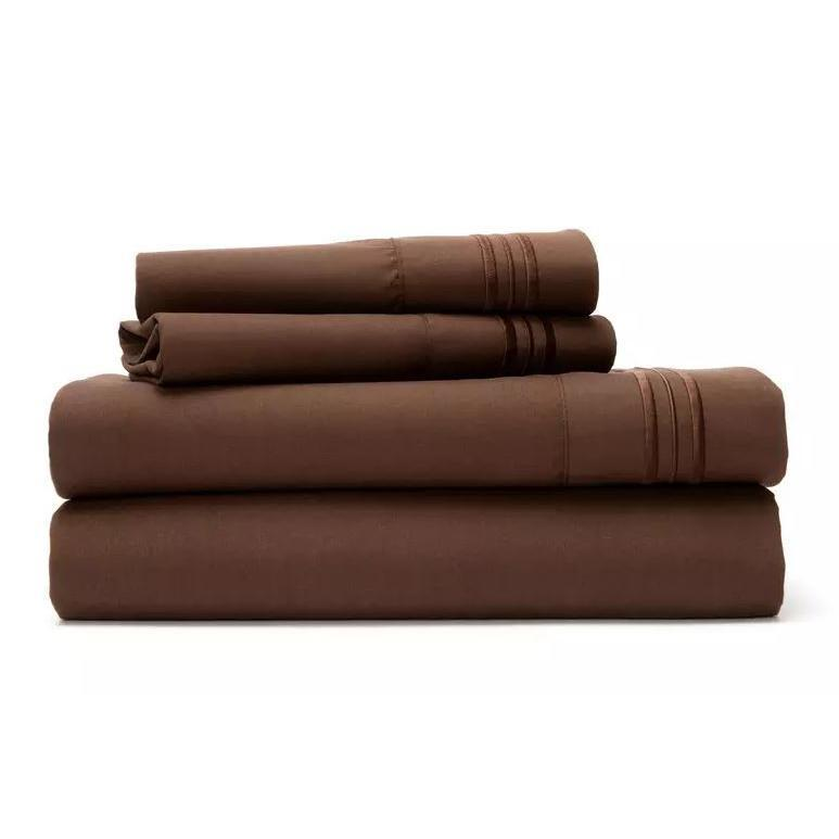 Ultra Soft 1800 Series Bamboo Blend Sheets - 4 Piece Set-Coffee-King-Daily Steals