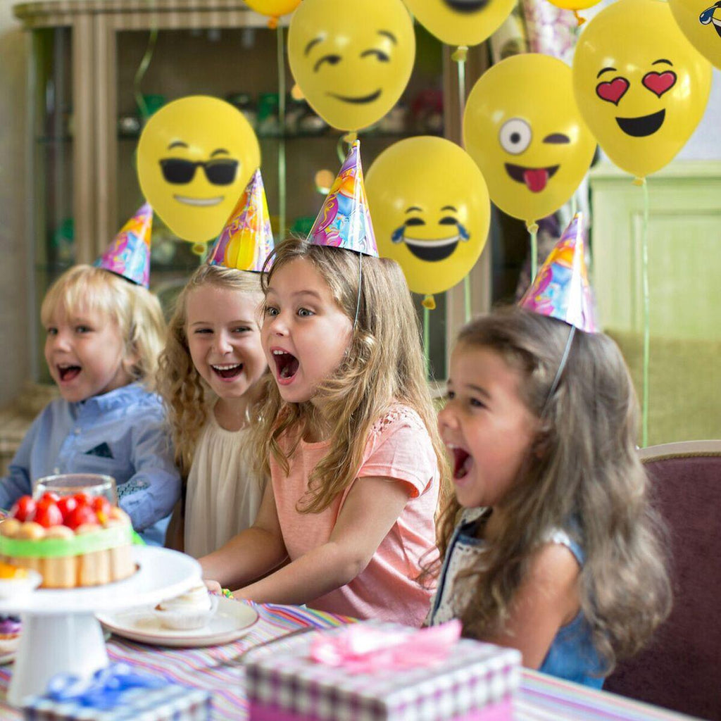 party emoji balloons