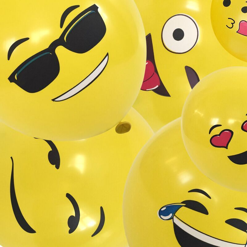 [72-Pack] Premium Emoji Party Balloons-Daily Steals