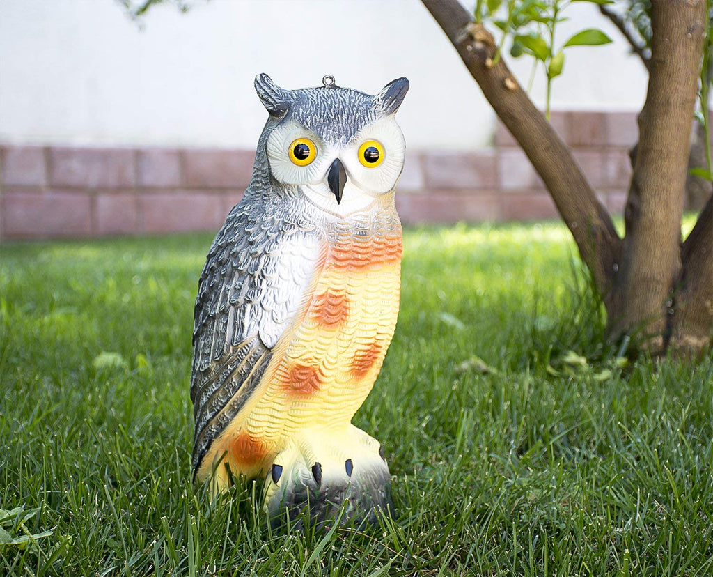 Realistic Scarecrow, Fake Owl Decoy, For Ultimate Garden Protection-Daily Steals