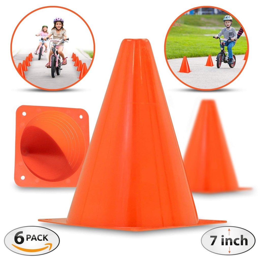 Daily Steals-[6-Pack] The Ultimate 7-inch Orange Traffic Cones-Hobby and Toys-
