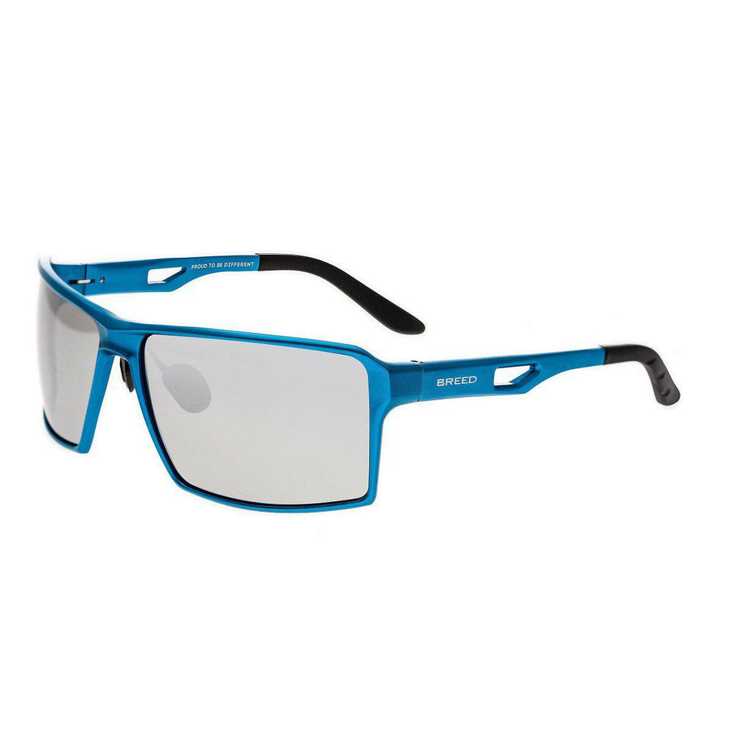 Breed Centaurus Aluminium Sunglasses w/Polarized Lenses-Blue/Silver-Daily Steals