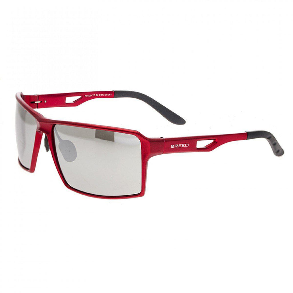 Breed Centaurus Aluminium Sunglasses w/Polarized Lenses-Red/Silver-Daily Steals