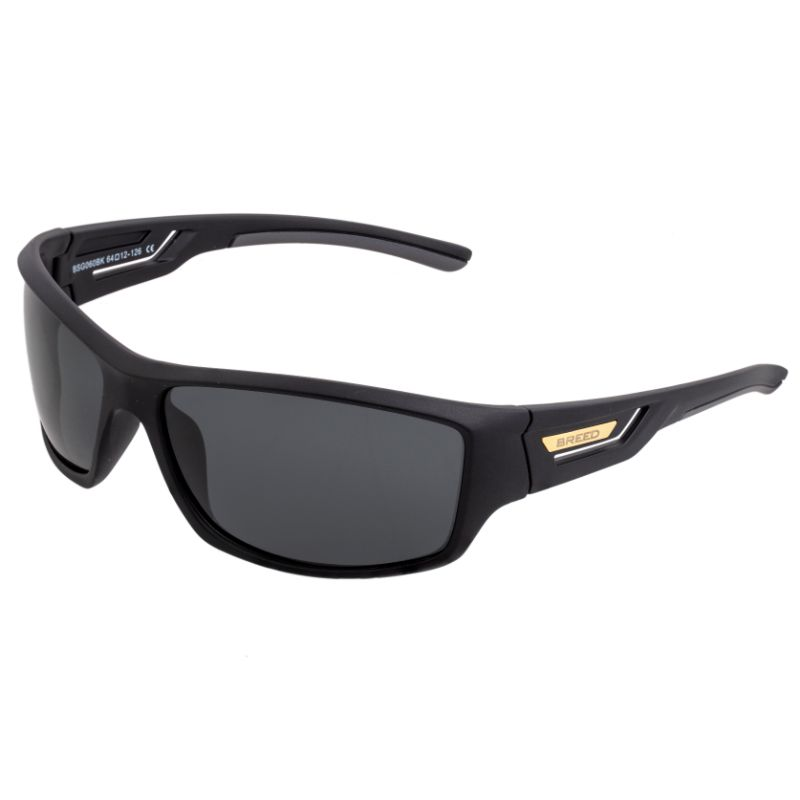Breed Aquarius Polarized Sunglasses-Black/Black-Daily Steals