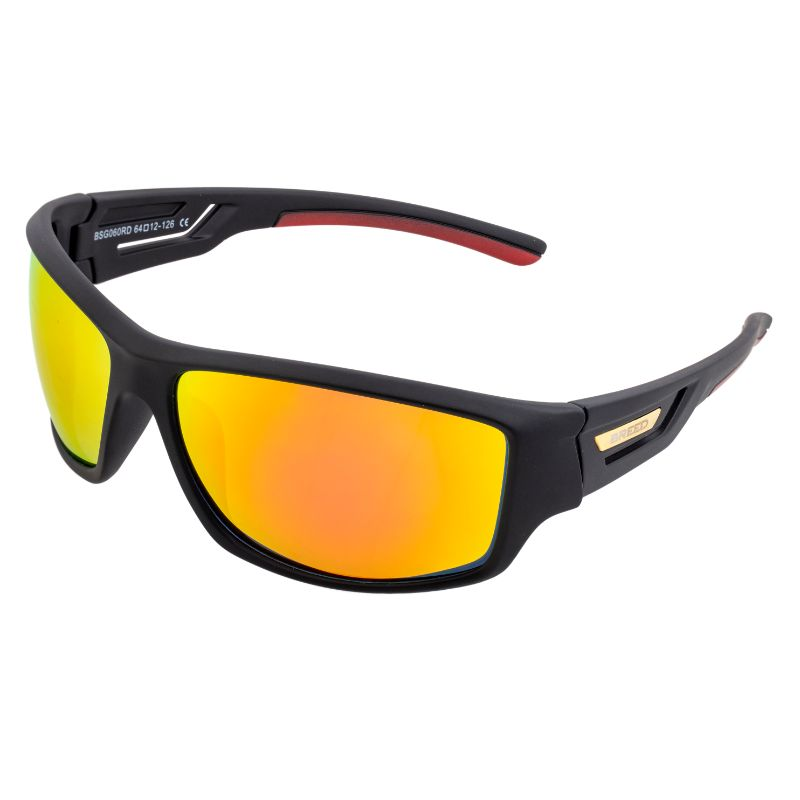 Breed Aquarius Polarized Sunglasses-Black/Red-Yellow-Daily Steals