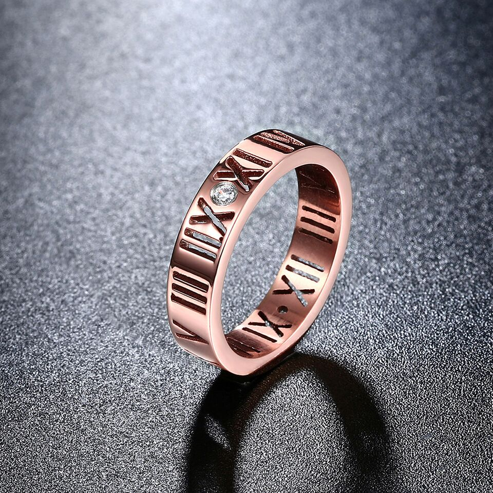 Roman Numeral Classic Band with 18K Gold Plating-Daily Steals