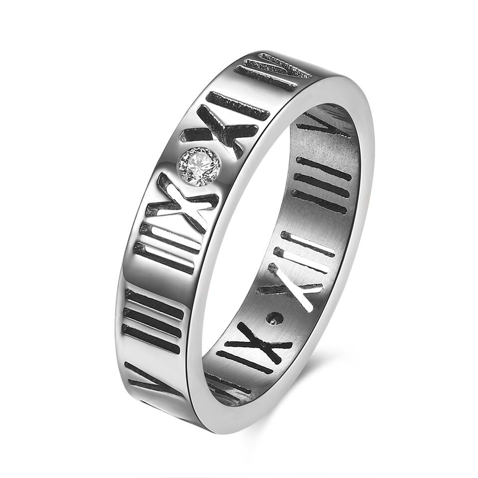 Roman Numeral Classic Band with 18K Gold Plating-Silver-5-Daily Steals