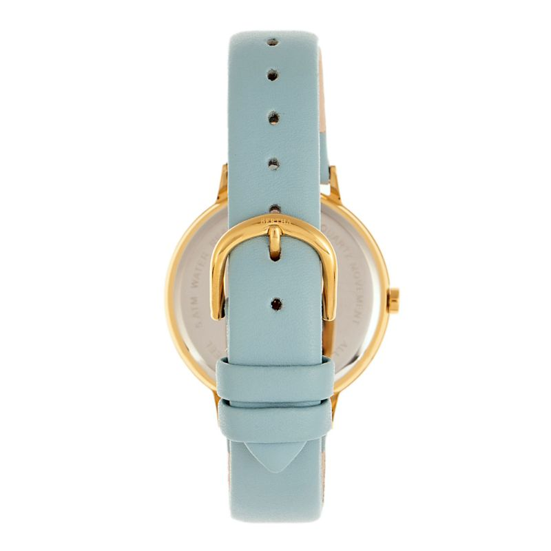 Bertha Delilah Women's Floral Face Leather Band Watch