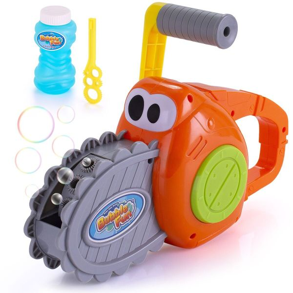 Kids Outdoor Bubble Chainsaw Blower - 500 Bubbles per Minute-Daily Steals