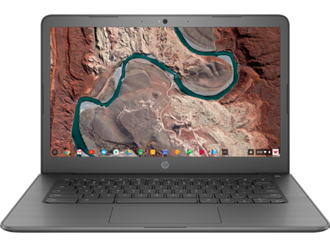"HP 14"" Chromebook with 1.1GHz Intel Celeron N3350 Dual-Core Processor, 4GB RAM, and 16GB Storage"