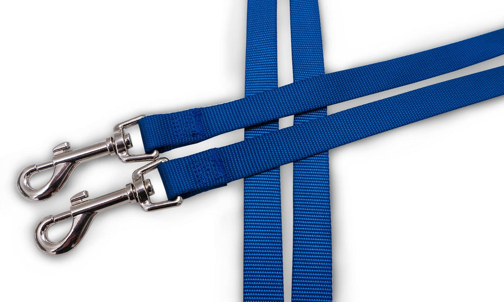 Furhaven No Tangle Two Dog Pet Leash-True Blue-Daily Steals