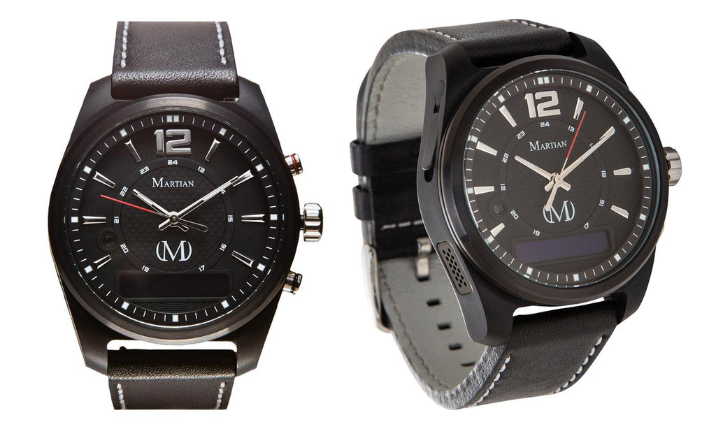 Montres connectées martiennes mVoice avec Amazon Alexa - Analog + Voice - Black Face / Black Band - Daily Steals