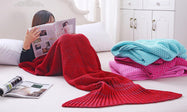Mermaid Tail Blanket for Adults or Kids-Red-Child-Daily Steals