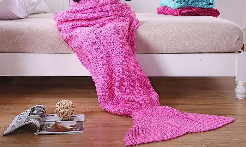 Mermaid Tail Blanket for Adults or Kids-Pink-Child-Daily Steals
