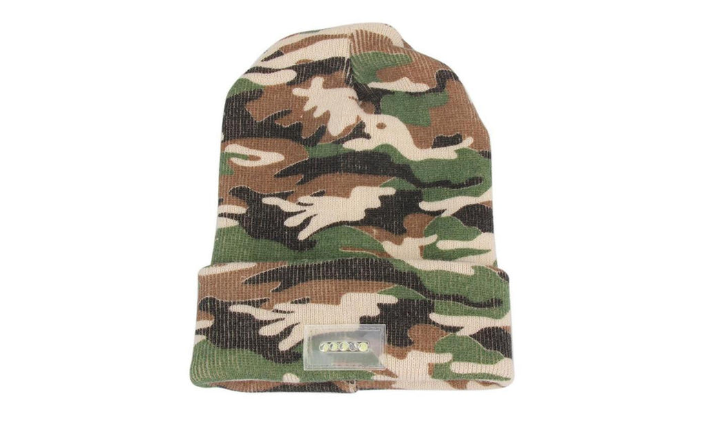 LED Beanie with Built-In Rechargeable USB-Camo-Daily Steals