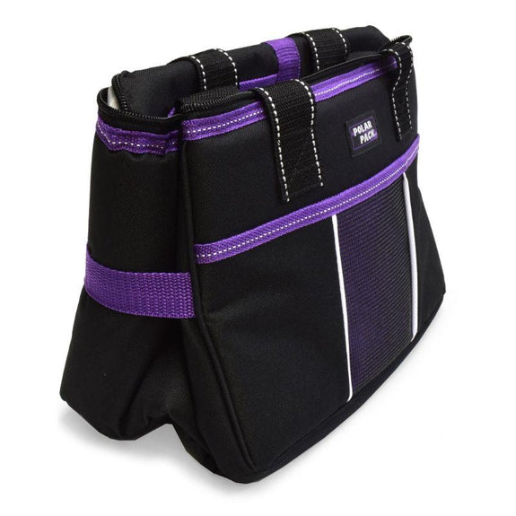 Polar Pack 18 Can Insulated Double Handle Collapsible Cooler-Black and Purple-Daily Steals